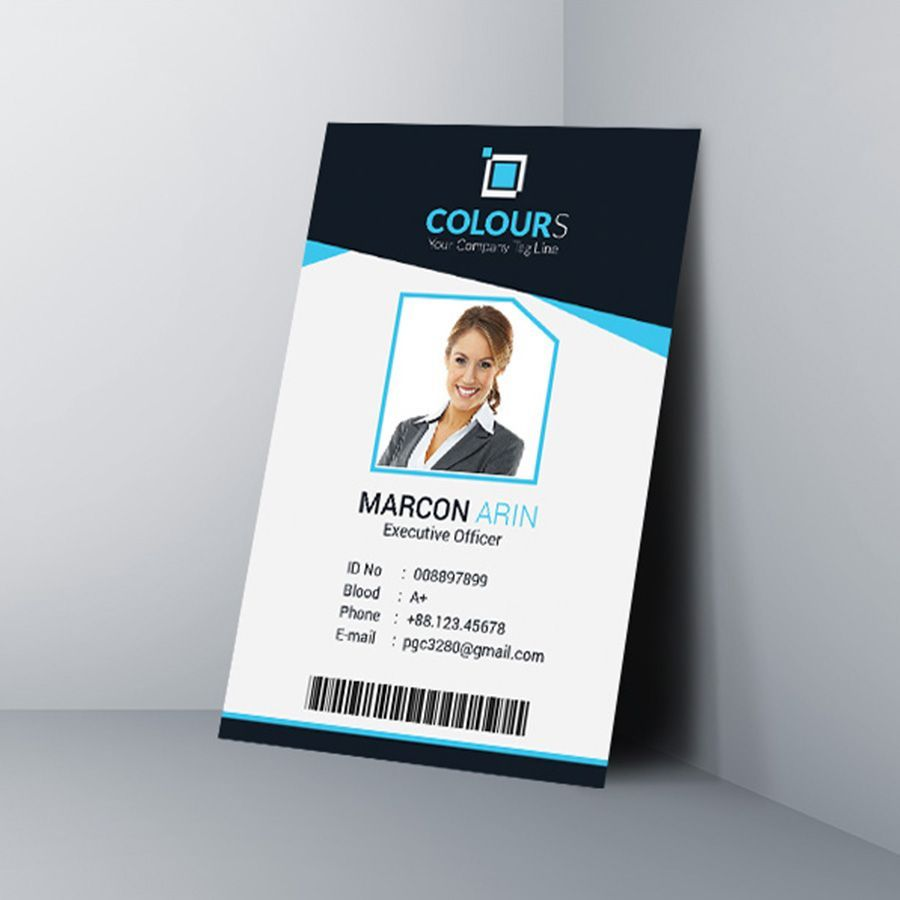 022 employee id card template microsoft word free download