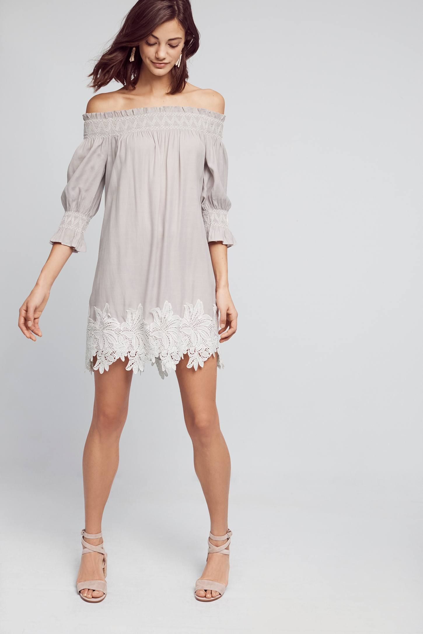 Shop the Madge Off-The-Shoulder Swing Dress and more Anthropologie at Anthropologie today. Read customer reviews, discover product details and more.