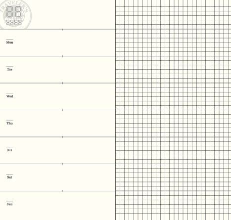 midori 019 insert - need to create template in photo shop with one - half inch graph paper template