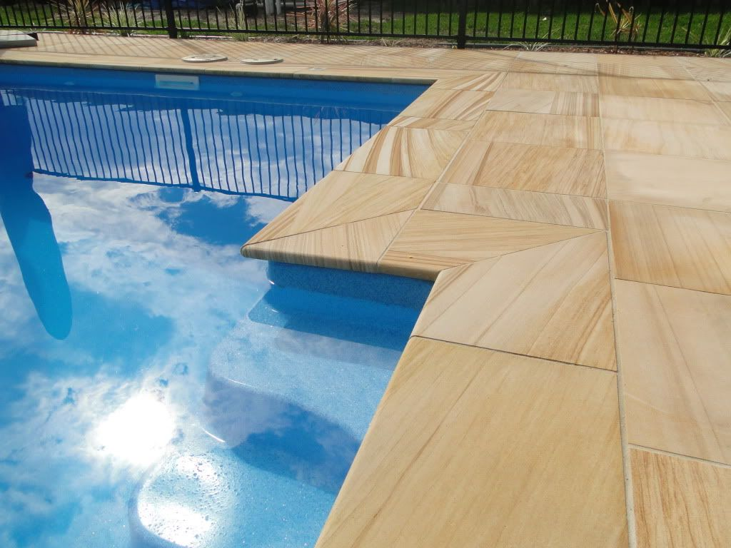 Beautiful Painting Concrete Around Pool Swimming Pool