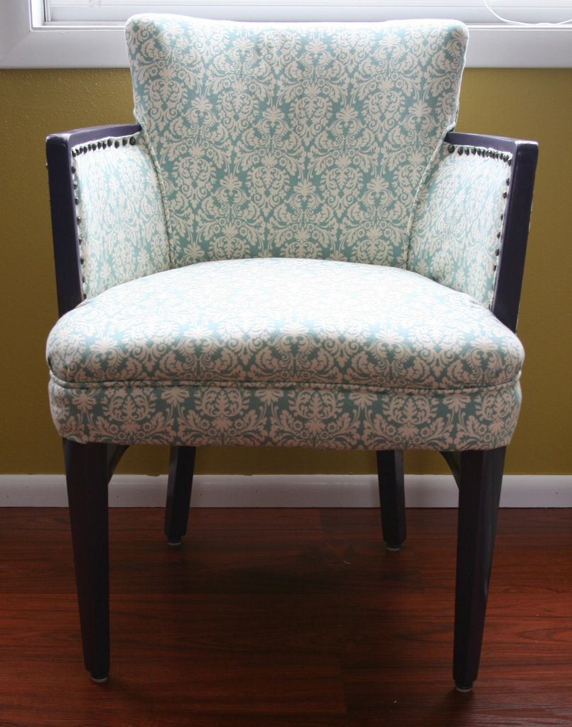 how to reupholster a dining room chair back