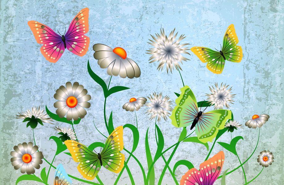 Abstract Drawing With Butterflies 4k Ultra Hd Wallpaper 4k Wallpaper Net