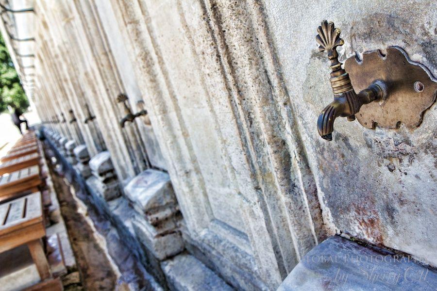 Wash basins outside of mosques