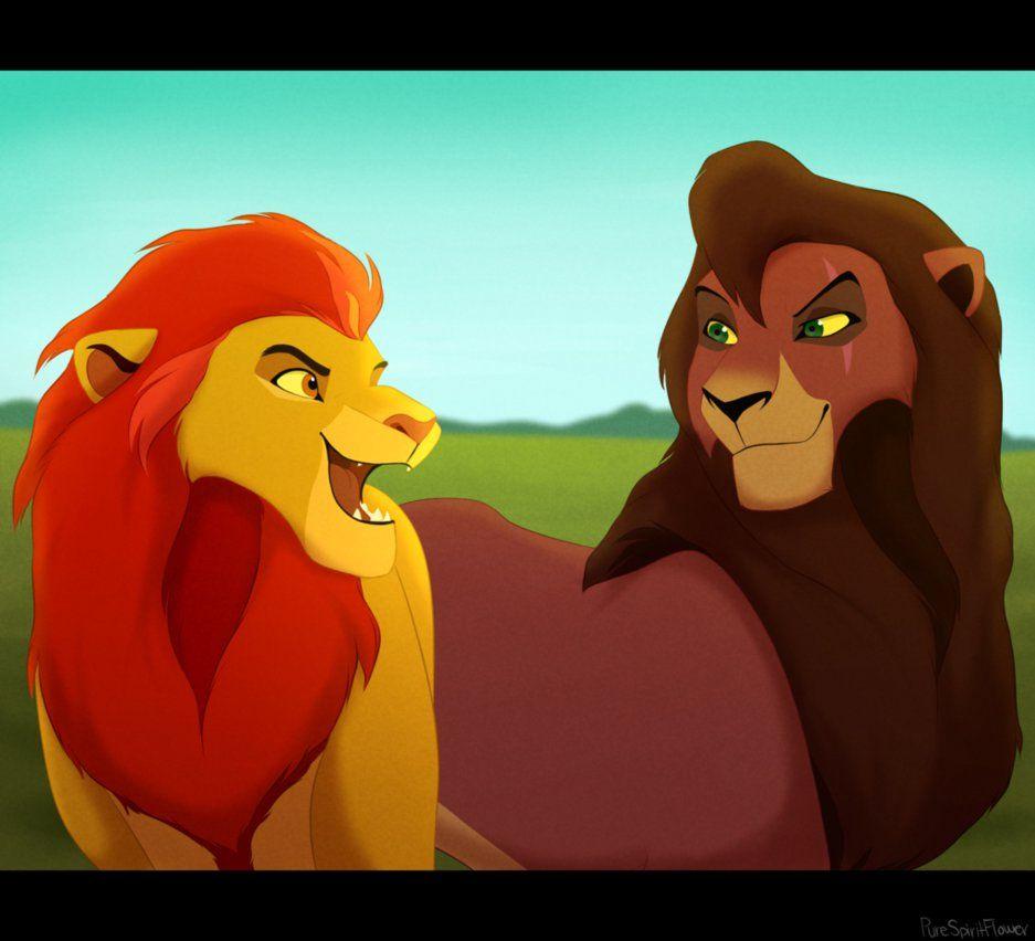 Kion and Kovu | kion | Pinterest | El rey leon, Rey y León