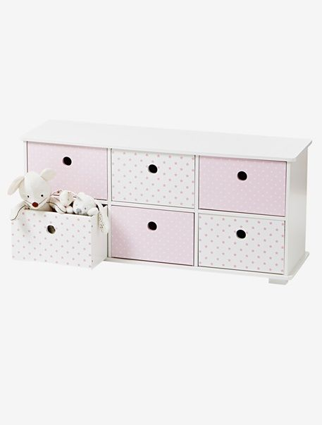 Vertbaudet Sideboard Fur Kinderzimmer In Weiss Rosa Kinderzimmer