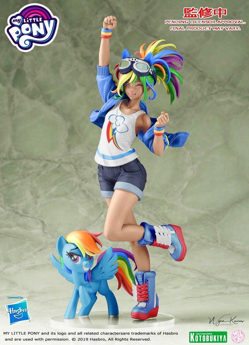 *Fan Coloured* Rainbow Dash Bishoujo Figure (With images