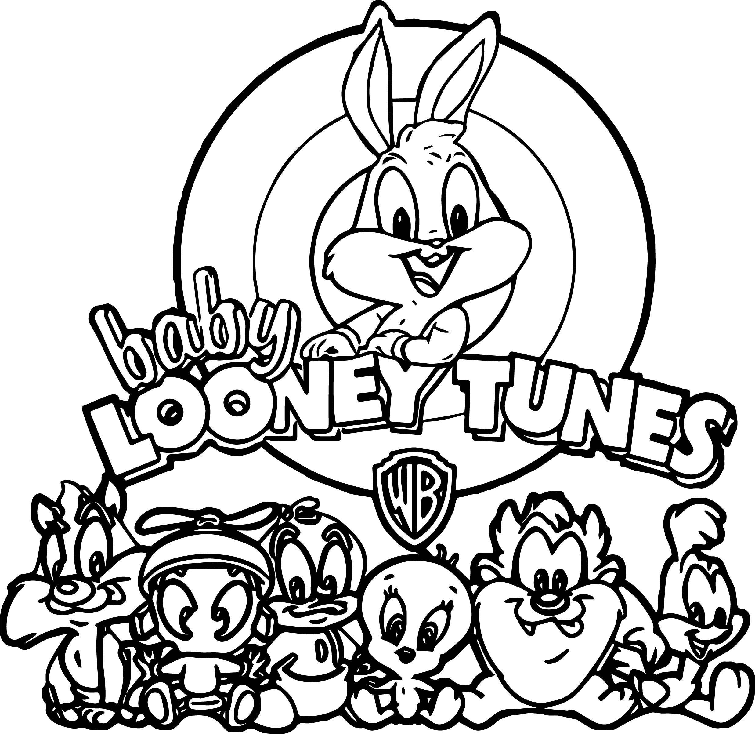 Warner Bros Baby Looney Tunes All Coloring Page  Baby looney