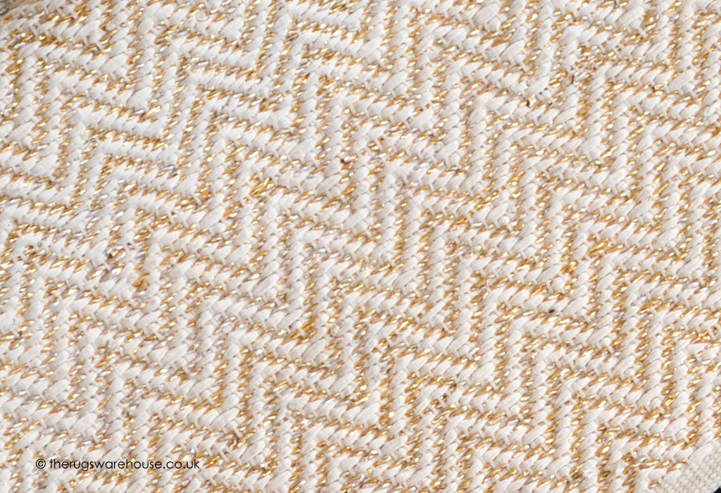 Glitzy Gold Rug Texture Close Up A Modern Hand Woven Ivory