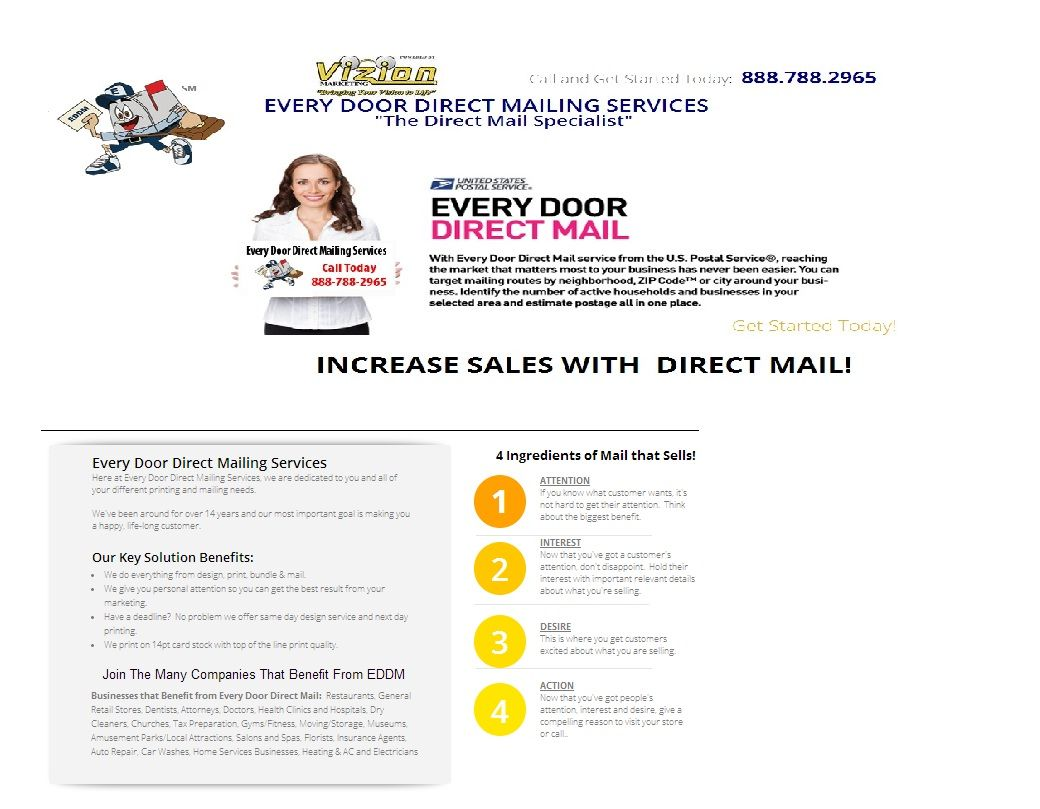 Looking Every Door Direct Mail (EDDM) for your business? Eddmailing ...