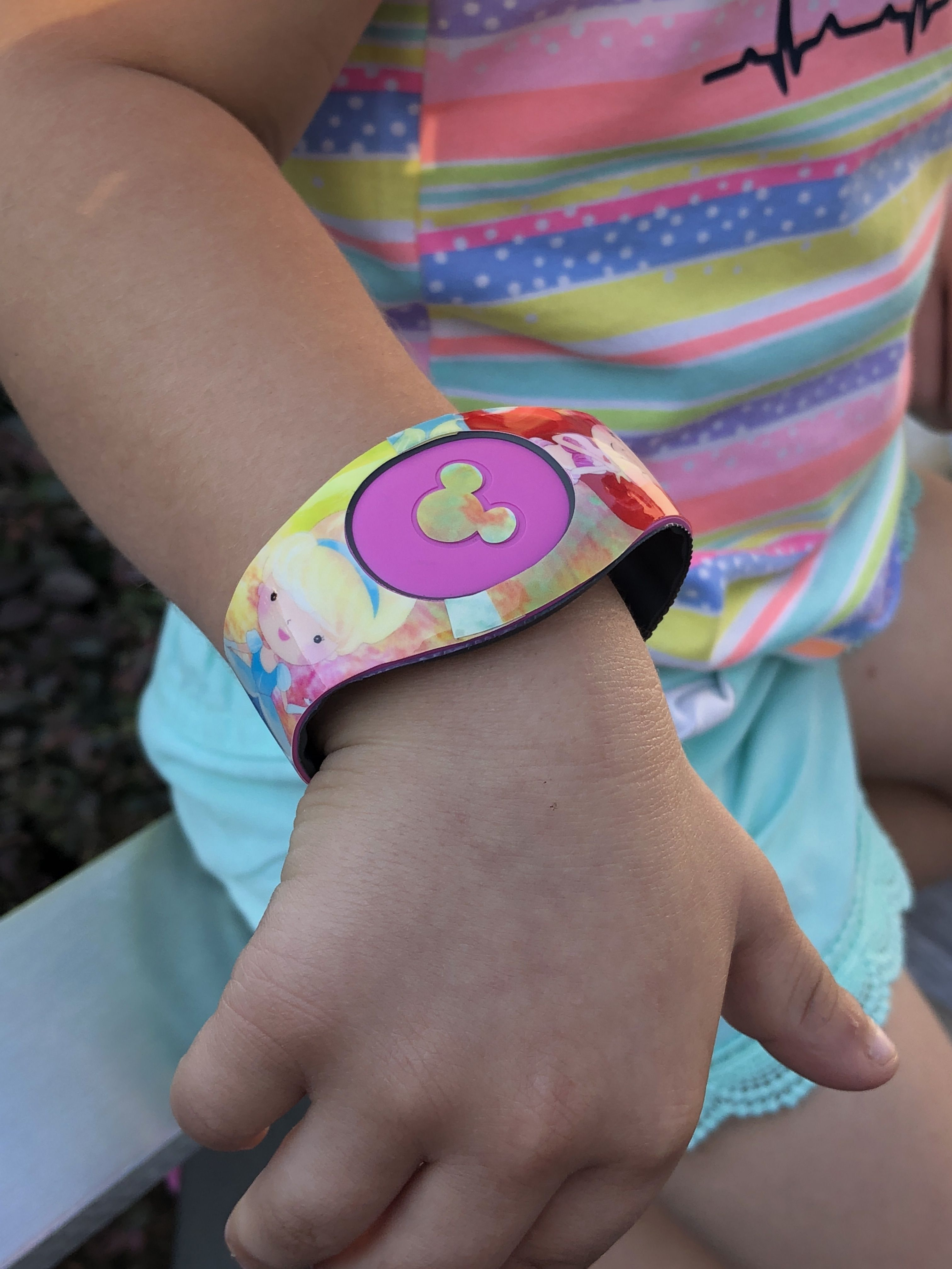 Watercolor princess magicband 2 0 decal from shopemilyg