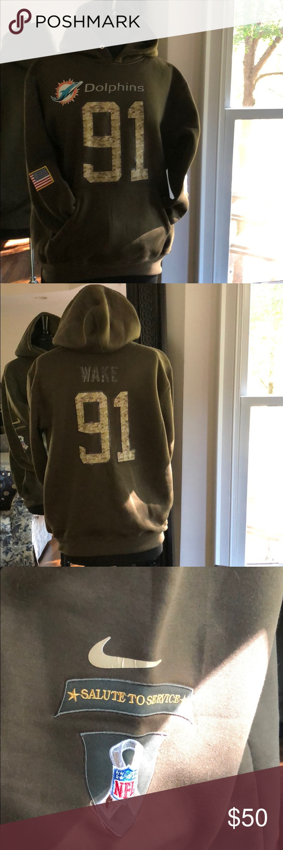 Nike NFL Miami Salute to Service Pullover Pullover hoodie # 91 Wake Nike Shirts Sweatshirts & Hoodies #salutetoservice Nike NFL Miami Salute to Service Pullover Pullover hoodie # 91 Wake Nike Shirts Sweatshirts & Hoodies #salutetoservice