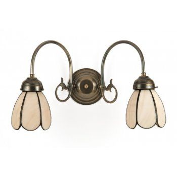 Traditional victorian or edwardian double wall light tiffany shades traditional victorian or edwardian double wall light tiffany shades aloadofball Images