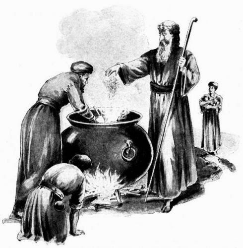 Image result for death in a pot of stew in the bible