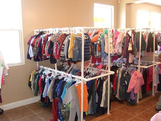 pvc clothing racks ocd pinterest yard sale pvc pipe and pvc projects. Black Bedroom Furniture Sets. Home Design Ideas