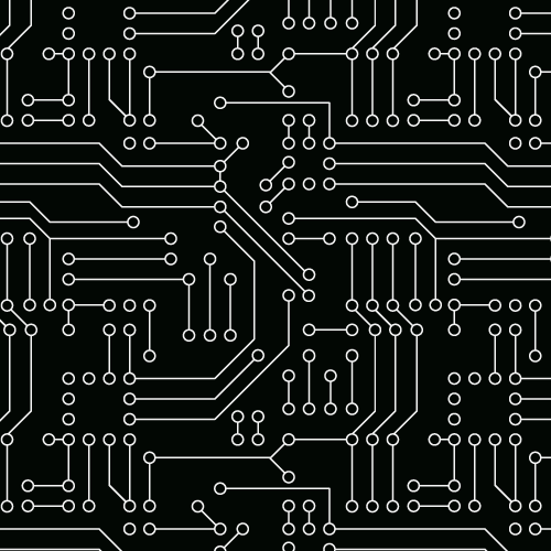 Seamless Pattern Of Circuit Board - Background Labs | BIngo ...