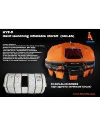 HYF-D Davit-launching Inflatable Liferaft - SOLAS   Life