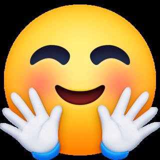 Hugging Face Emoji On Facebook 4 0 In 2020 Emoji Emoji Images Emoji Faces