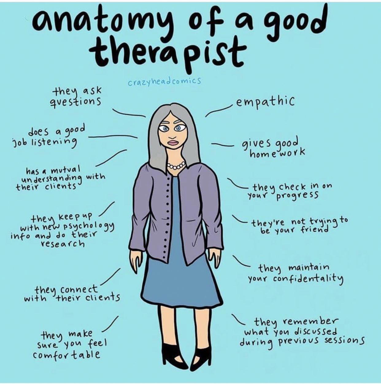 Anatomy of a good therapist counseling psychology