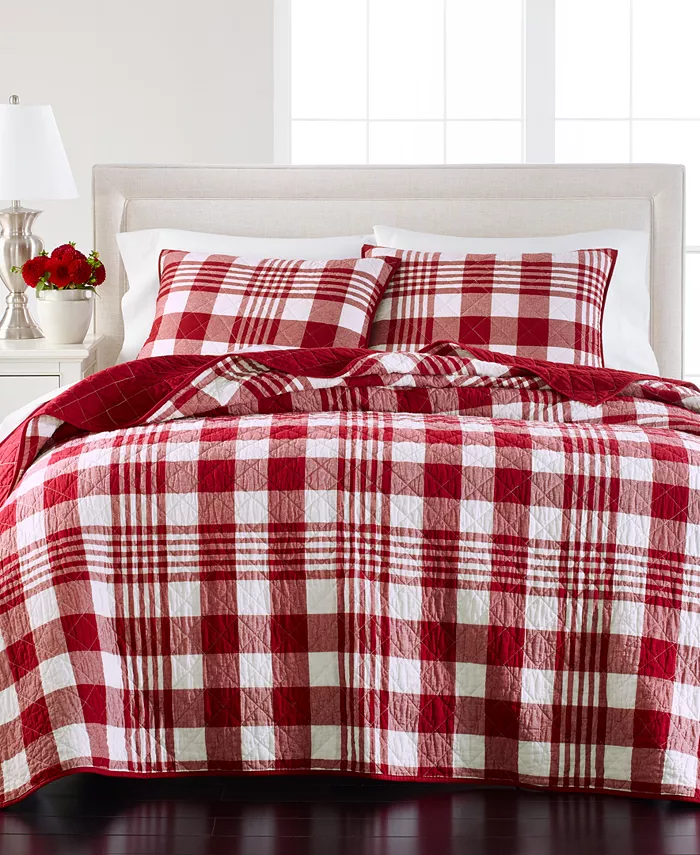 Martha Stewart Collection Last Act Buffalo Plaid Yarn Dye Twin Twin Xl Quilt Created For Macy S Reviews Quilts Bedspreads Bed Bath Macy S In 2021 Christmas Bedroom