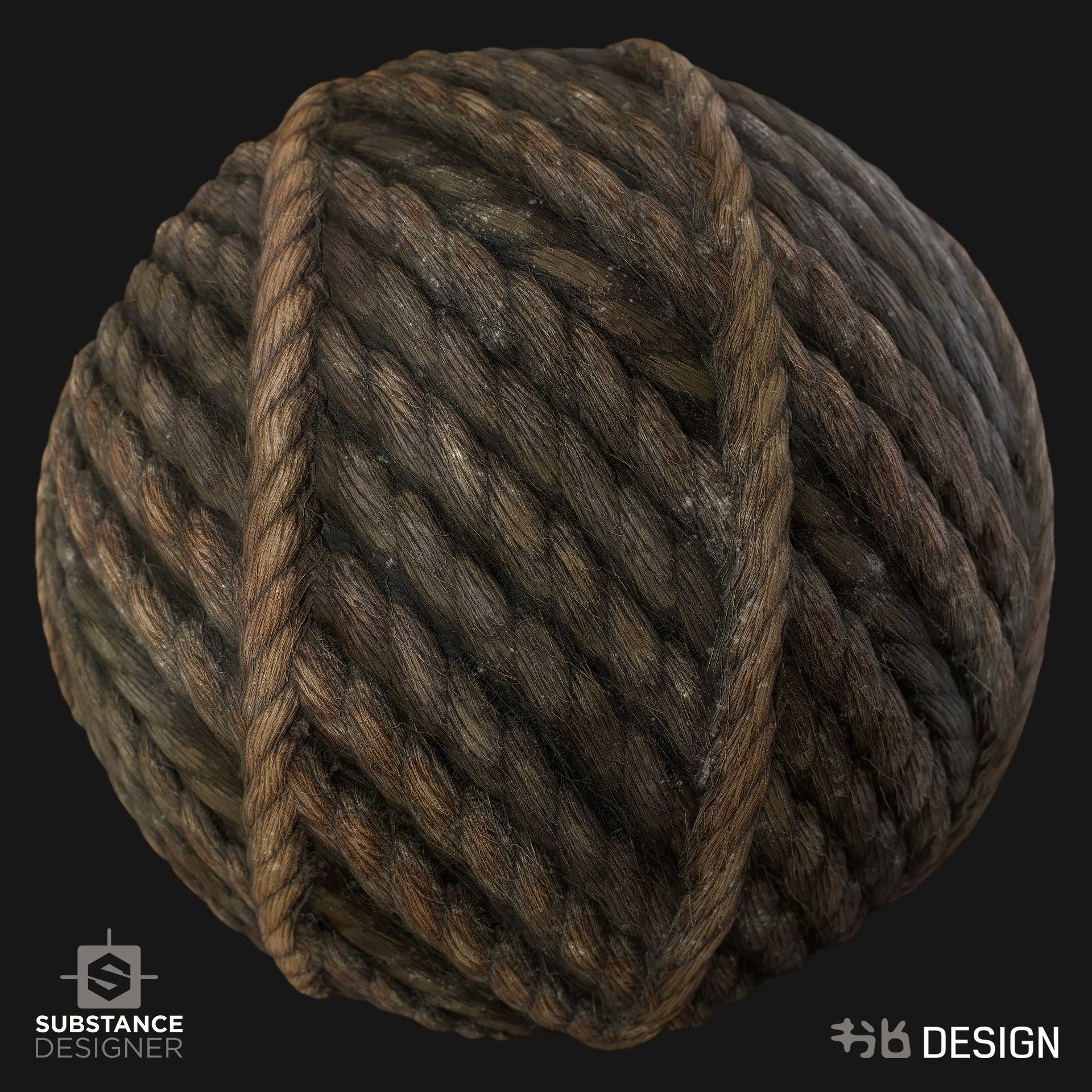 ArtStation - Rope from Jute practice - Substance Designer
