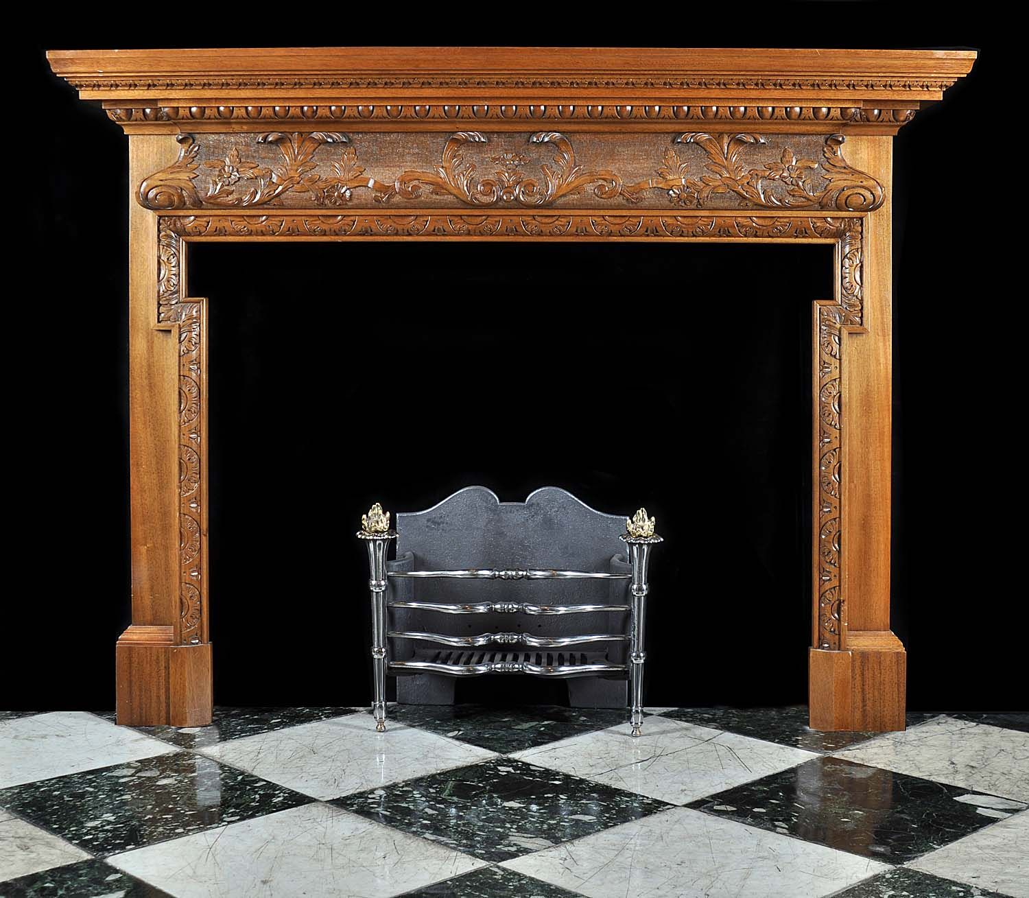 Antique carved Wood Georgian Fireplace Mantel | House ideas ...