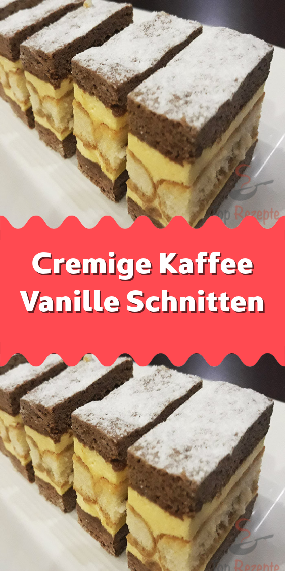 Cremige Kaffee Vanille Schnitten