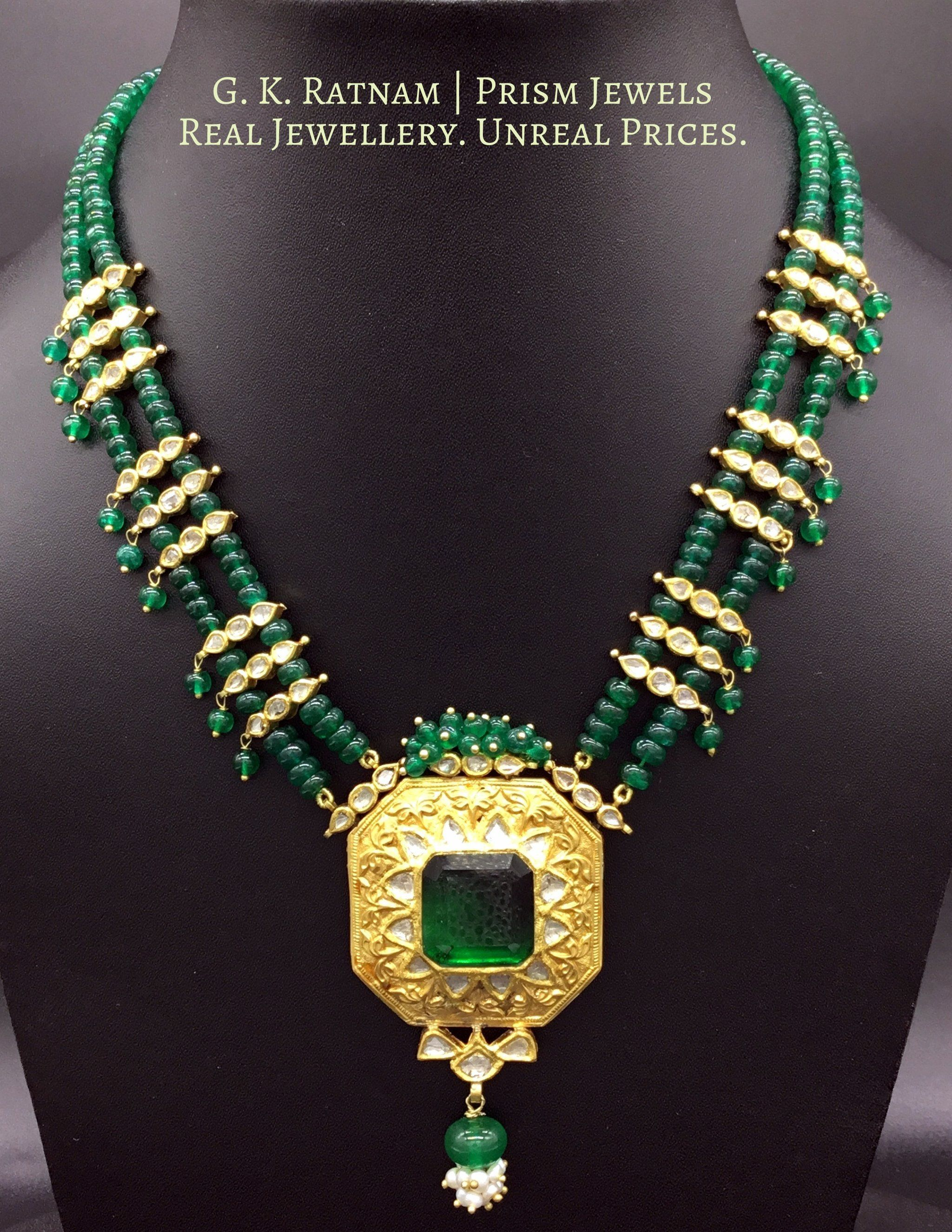 Pendant set r k jewels pinterest uncut diamond indian bridal