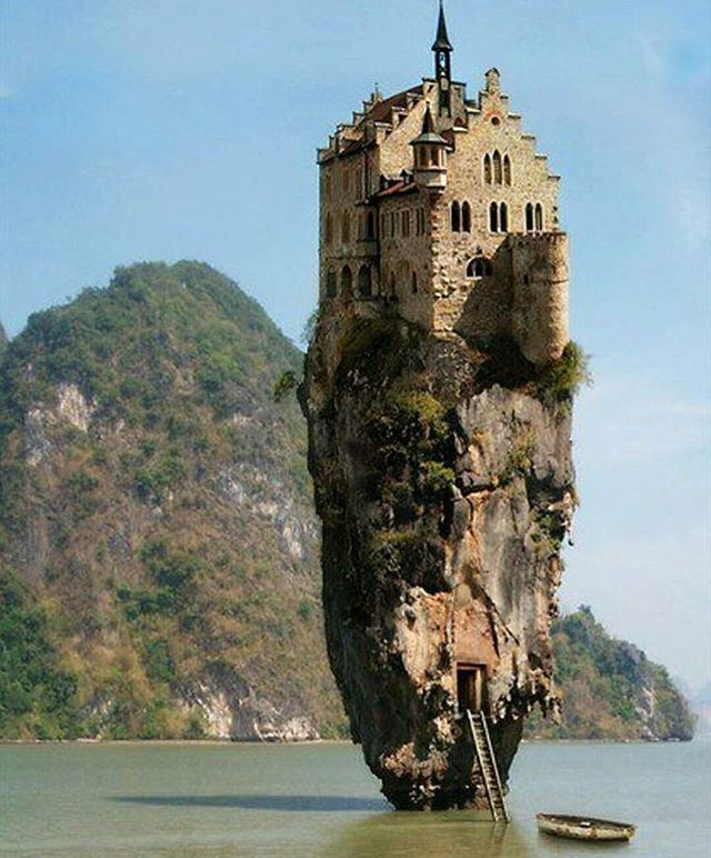 Castle On A Tiny Island Doesnt Look So Lonely