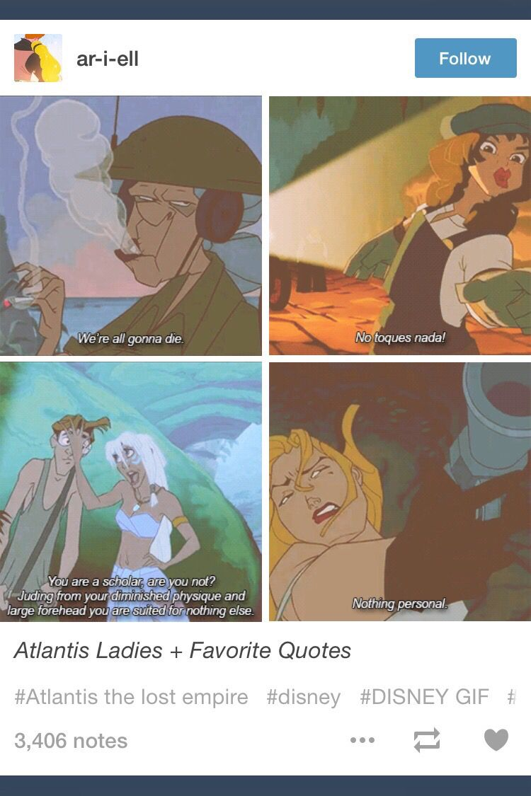 Great quotes from Atlantis
