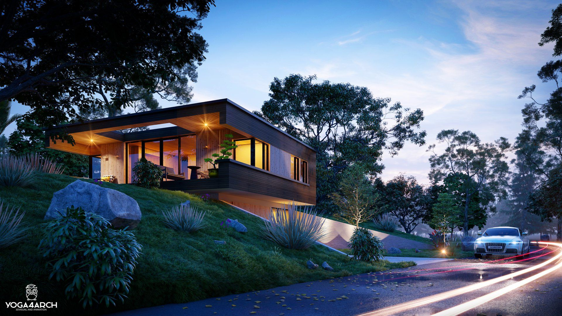 Residential House Rendered In Lumion9 By Yoga Binhar 3d