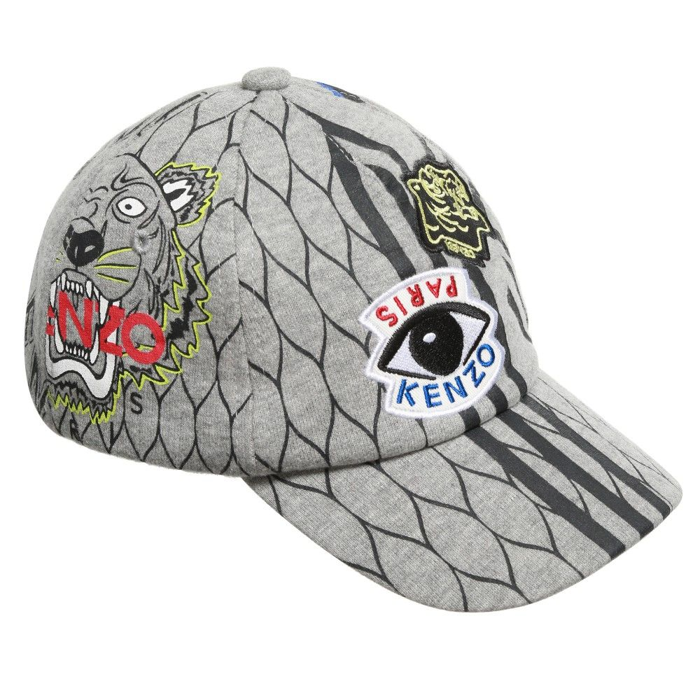 c3b5fd5af6a Grey Multi Icon Jersey Baseball Cap
