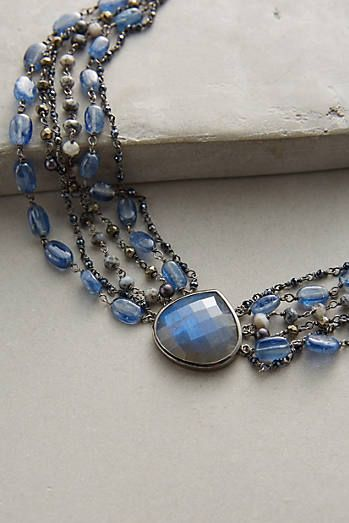 sterling silver, rhodium plating, kyanite, pyrite, mystic black spinal, dendrite opal