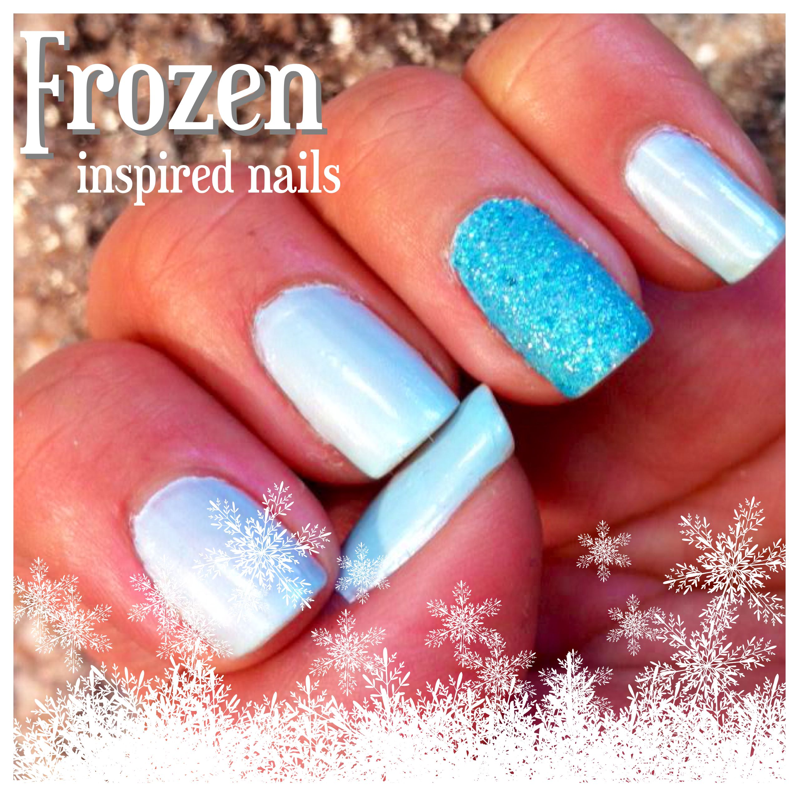 Frozen inspired nail colors   nails   Pinterest