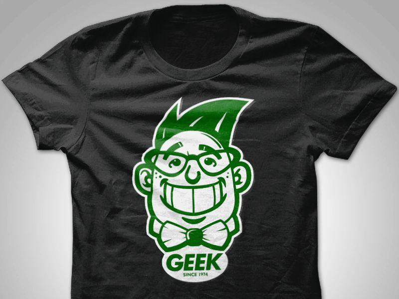 GEEK Tshirt Design - Black by Aris