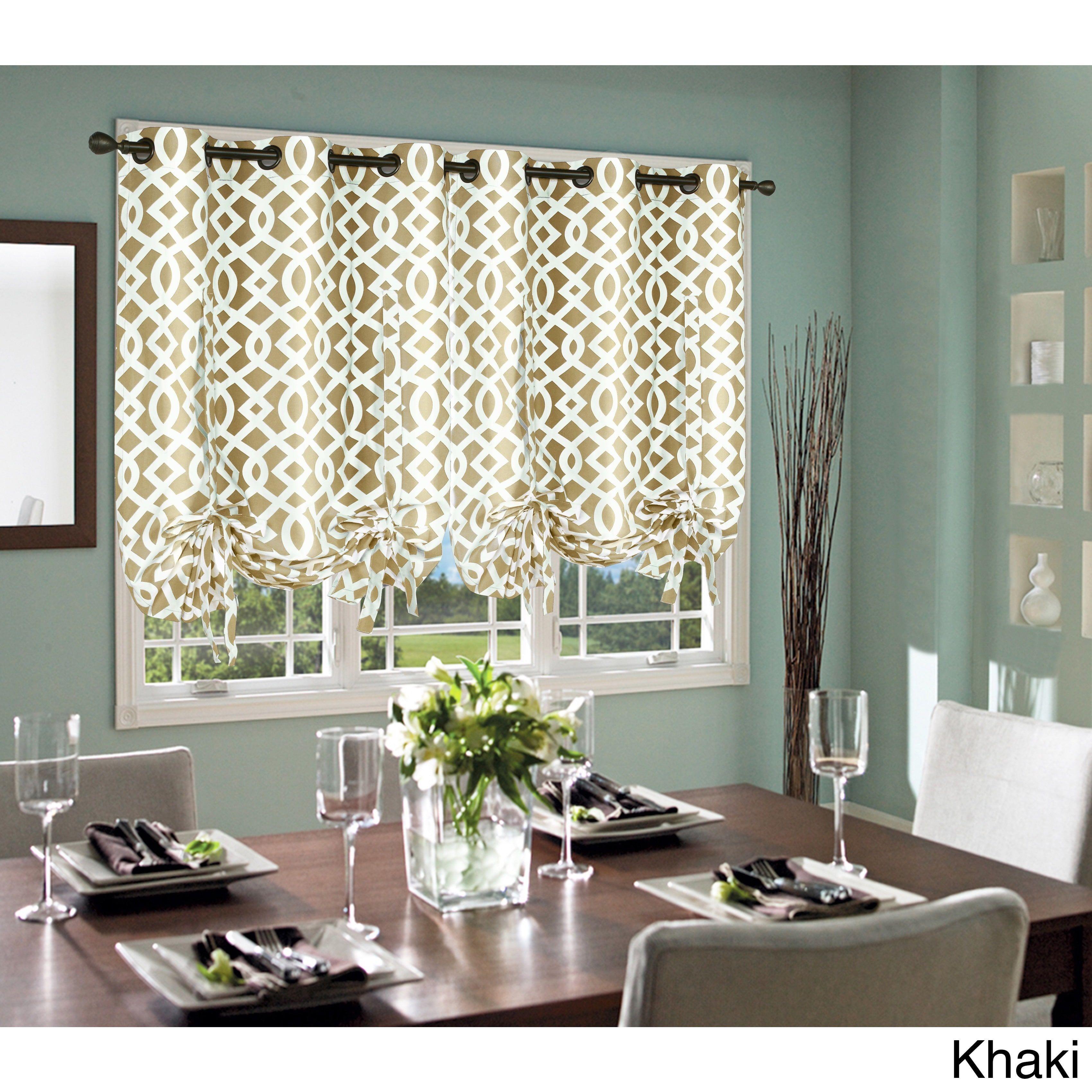 Garden window coverings  trellis thermalogic weathermate lined tieup window shade  new