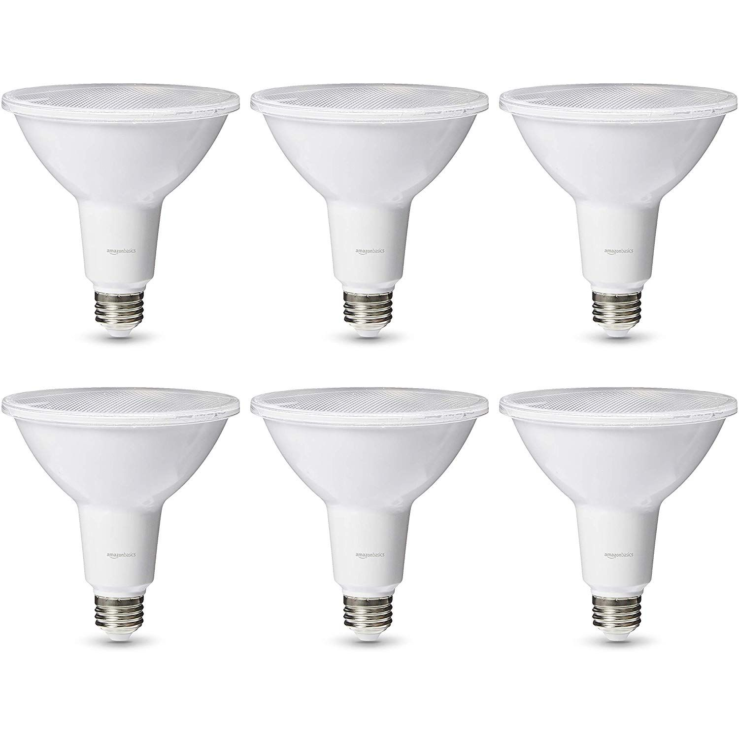 Amazonbasics 120 Watt 25 000 Hours Dimmable 1200 Lumens Led Par38 Light Bulb Pack Of 6 Soft White Light Bulb Led Light Bulb Led Bulb