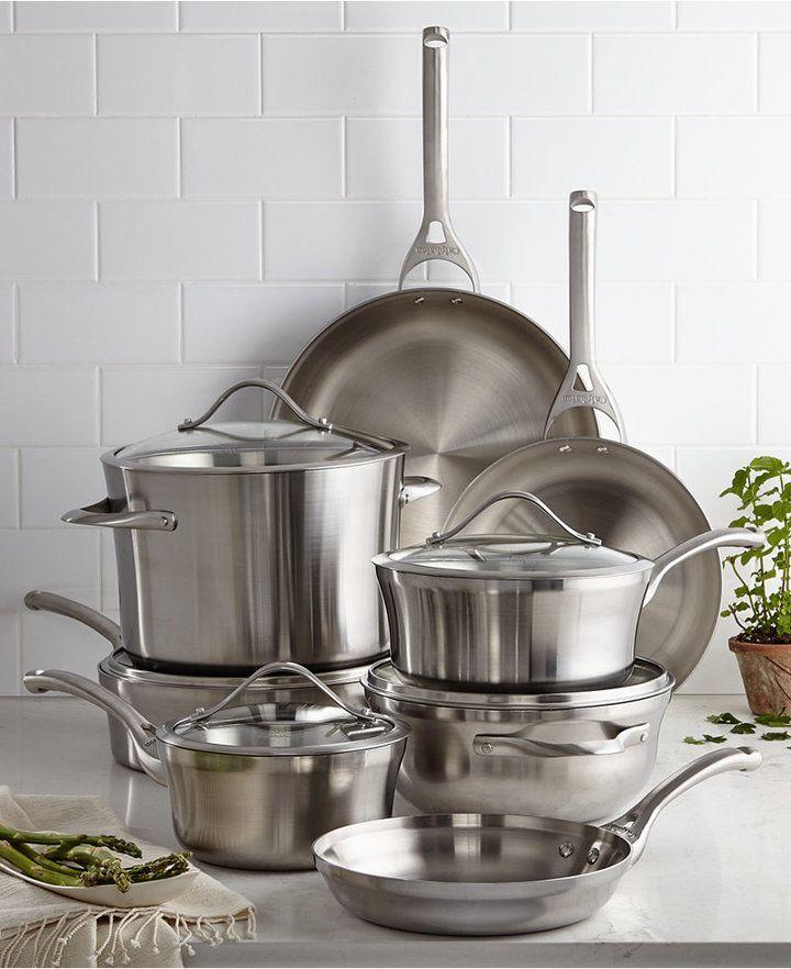 Calphalon Contemporary Stainless Steel 13 Pc Cookware Set 419 99 Cookware Set Calphalon Contemporary Cookware Set Stainless Steel Calphalon contemporary stainless 13 piece cookware set