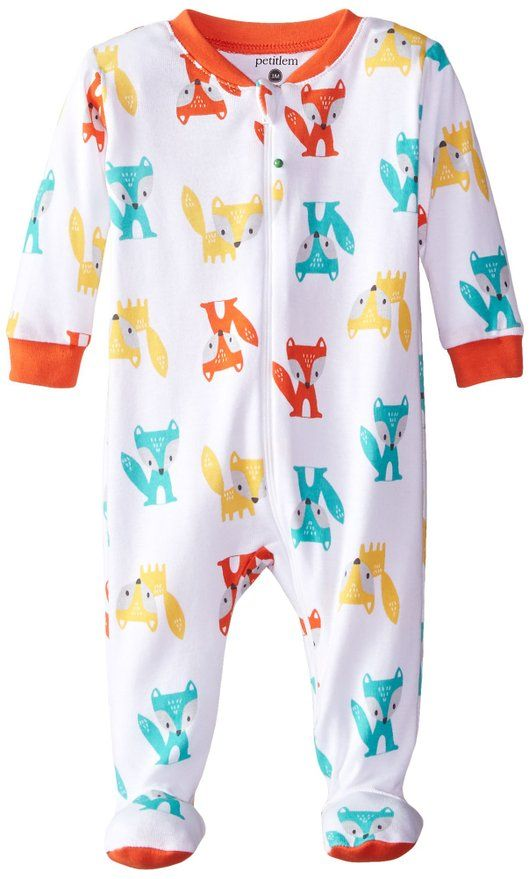 8772f2f53 Petit Lem Baby-Boys Newborn Footed Pajama Sleeper Fox