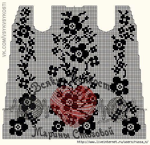 мелкое филейное вязание