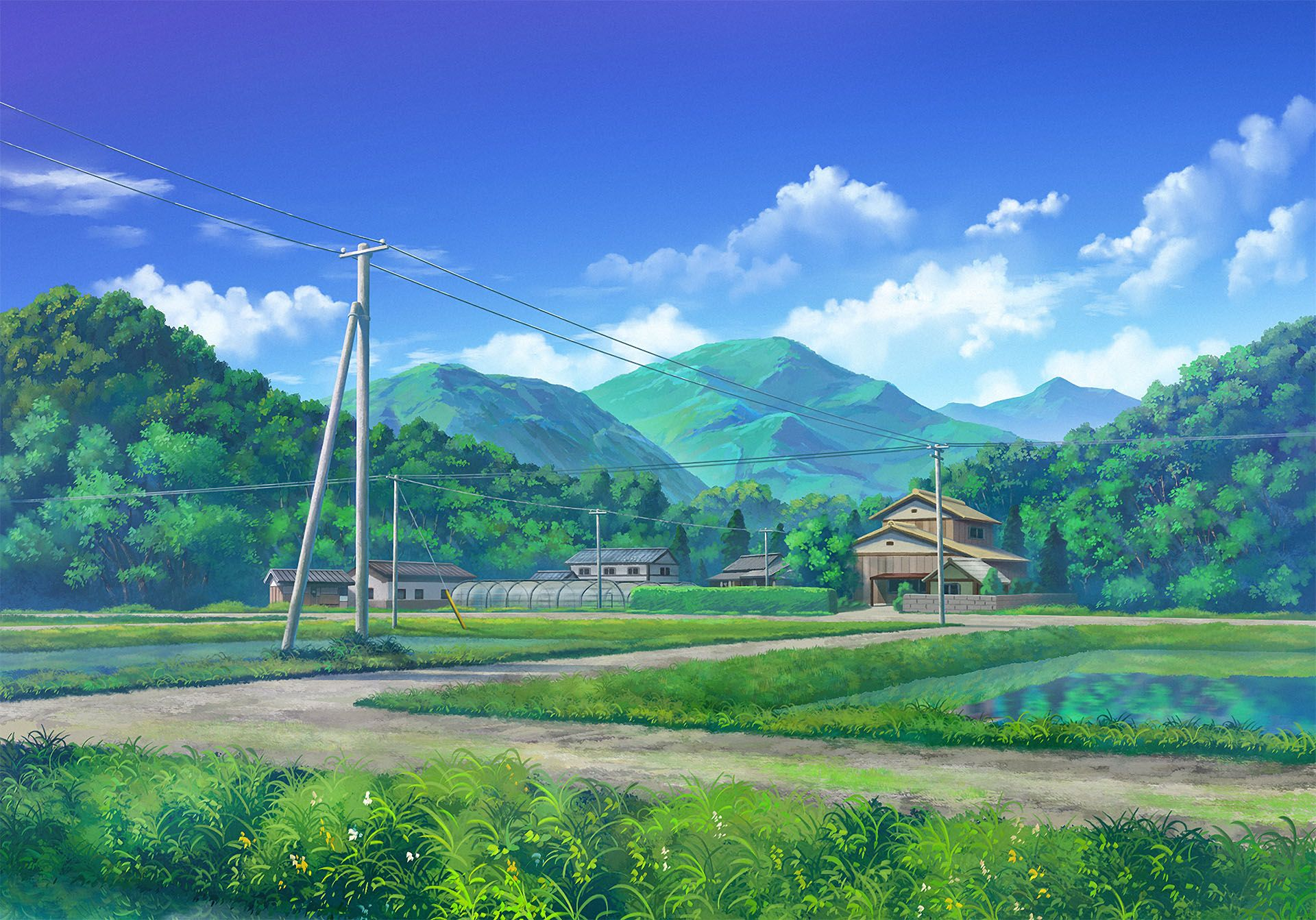 Countryside 1920x1342 Anime Scenery Japan Landscape Countryside Landscape