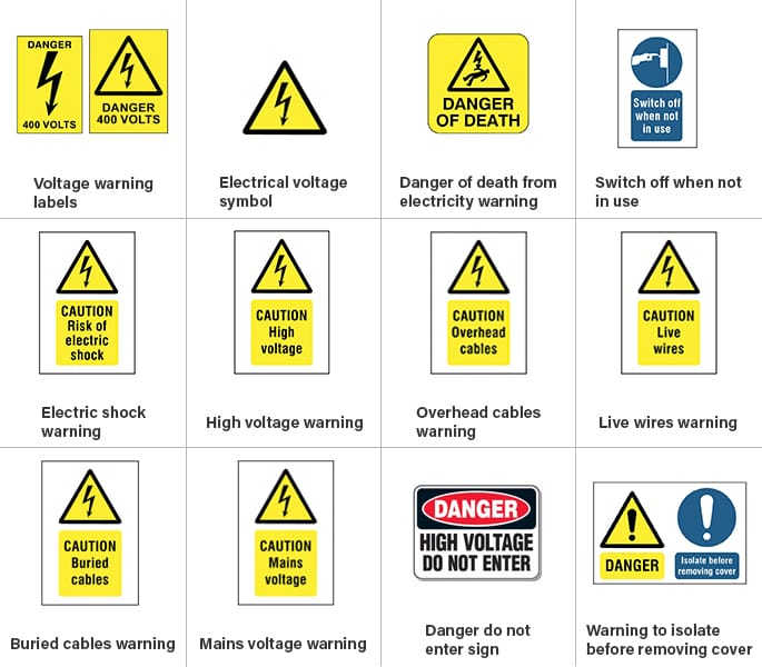 Electrical Safety Symbols Signs Do You Know Them In 2020 Electrical Safety Safety Rules Electricity