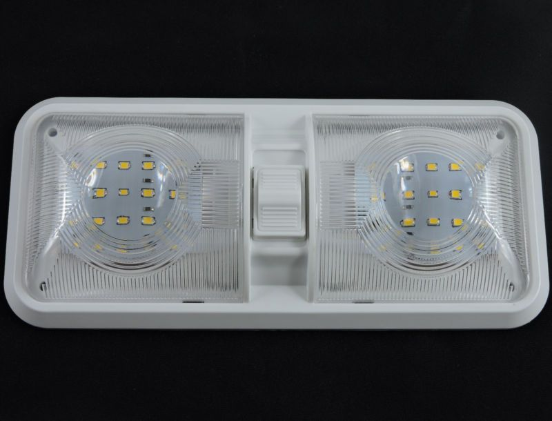 New Rv Led 12v Double Dome Light Ceiling Fixture Camper Trailer Marine Motorhome Dome Lighting Camper Camper Parts