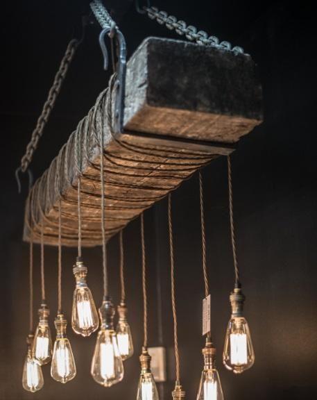 Vintage Lighting 120 year old bespoke hand made railway sleep light - lamparas para escaleras