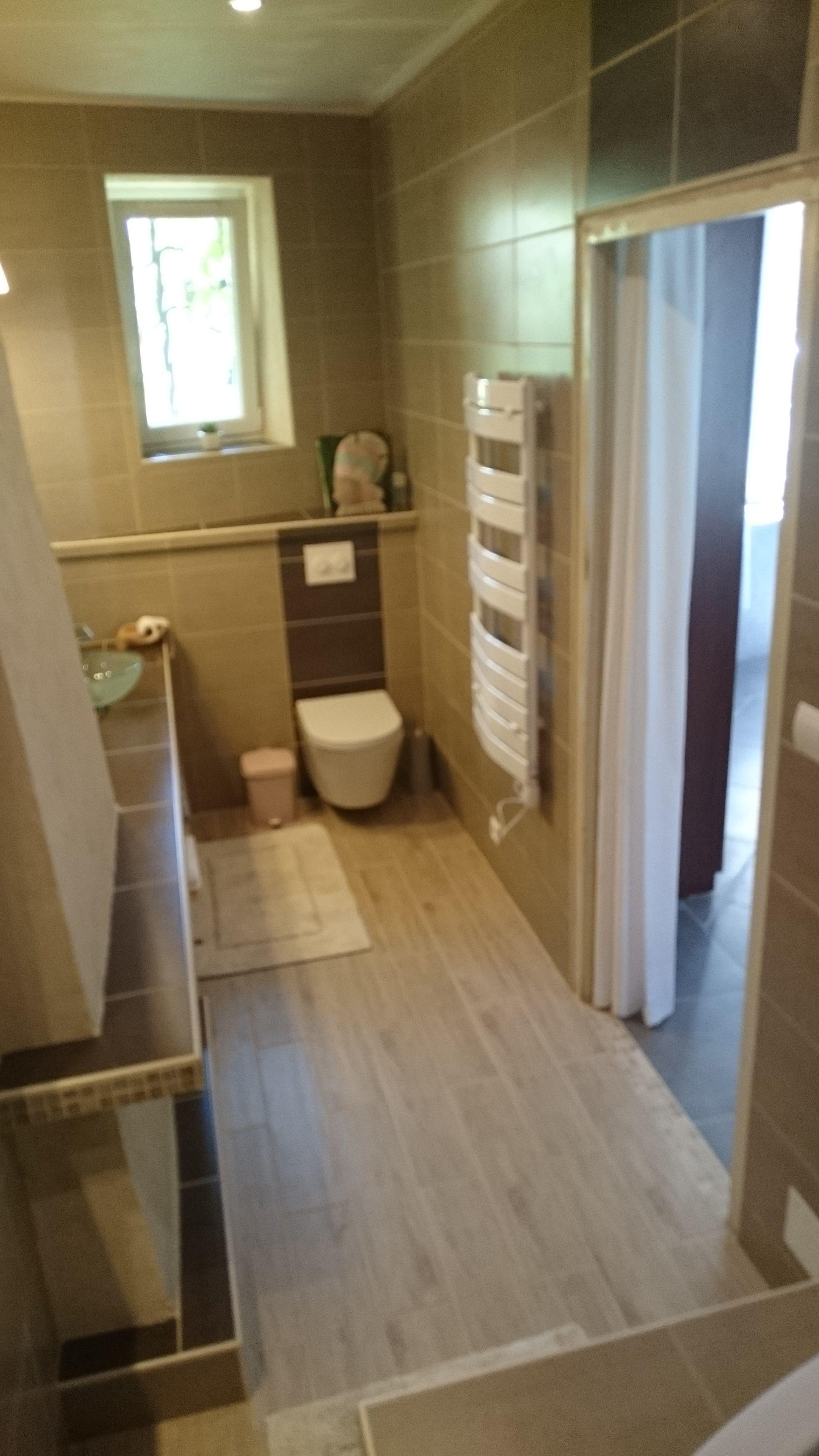 Salle de bain de ma chambre parentale, coin WC et entrée. WC