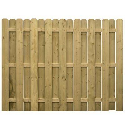 Pressure Treated Wood 3 Rail Dog Ear Shadowbox Fence Panel 73000646 The Home Depot