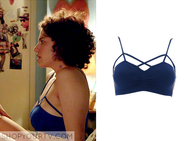d4202b5fab Ilana (Ilana Glazer) wears this blue cut out bra in this week s episode of  Broad City. It is from LF Stores. Available  ...