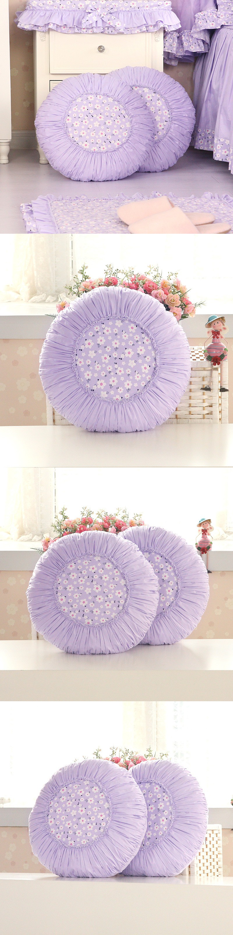 luxury 45cm round seat cushions chairs lumbar pillow decorate sofa