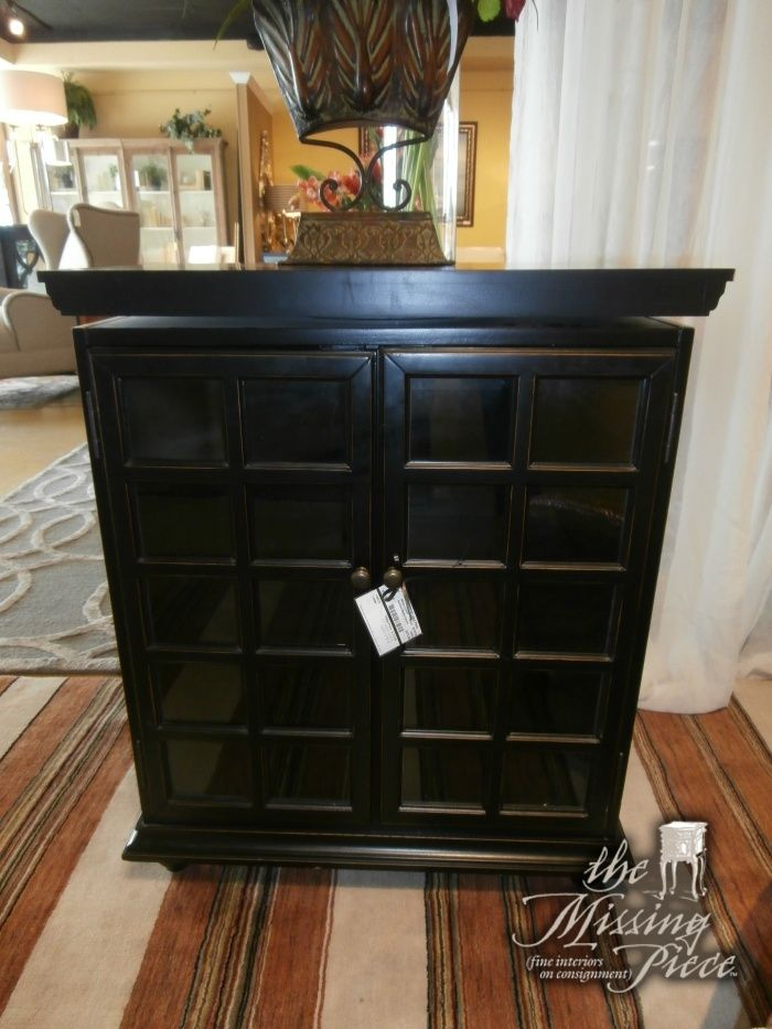 Ballard Design Media Cabinet In Jet Black The Top Swivels To Angle Your TV Just