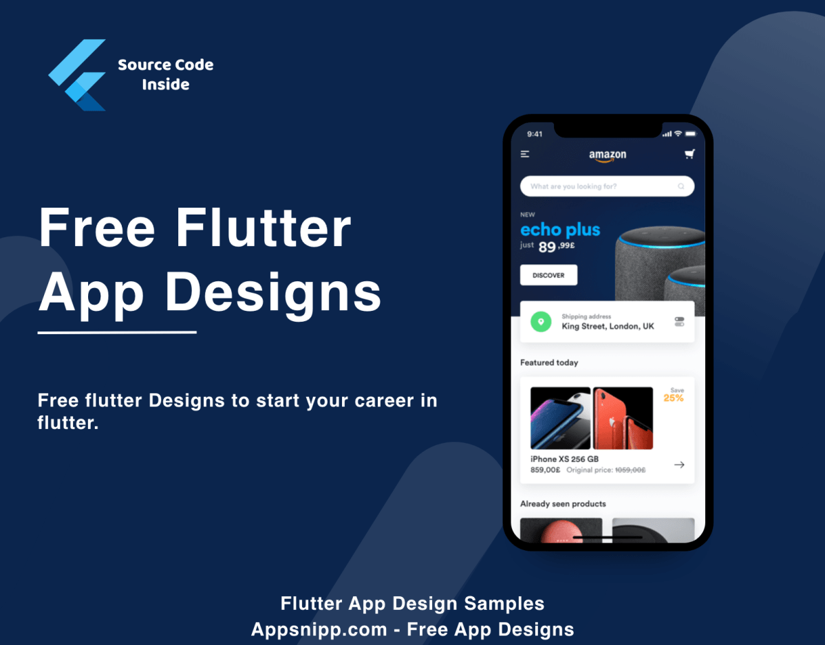 Free Flutter App Samples with source code App design