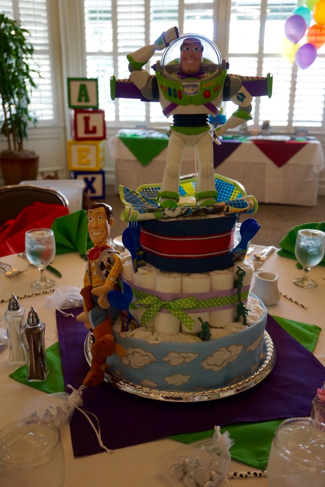 diaper cake toy story diy pixar themed baby shower in 2019 baby rh pinterest com